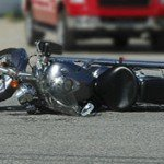 motorcycle after accident