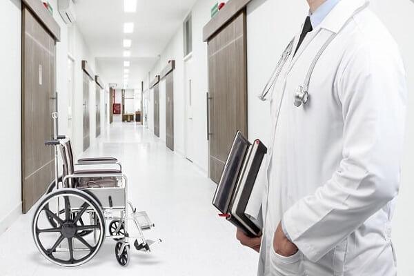 Doctor in a Hospital Corridor
