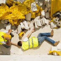 construction accident man on the floor