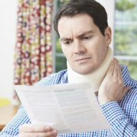 Man with a neck injury