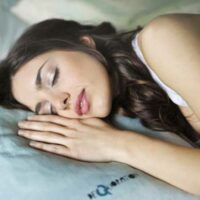 tired woman sleeping