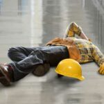 construction worker on the floor